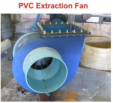 PVC extraction fan